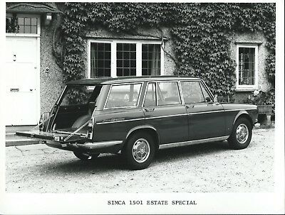 Simca 1501 Estate Special 1975 Original Press Photograph Rootes Stamp on Rear
