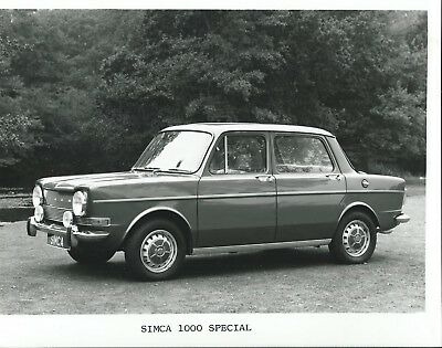 Simca 1000 Special 1975 Original Press Photograph Rootes Stamp on Rear