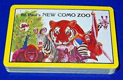 "Vintage Souvenir Playing Cards ""st. Paul's New Como Zoo"", Still Factory-Sealed"