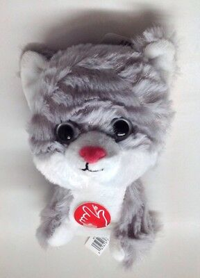 Spark Create Imagine Grey White Kitty Cat Stuffed Animal Meows
