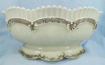 Antique Chrysanthemum Sprig Custard Glass Bowl Northwood Pagoda Large Berry EAPG