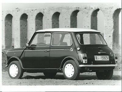 Mini Racing Green Special Edition 1990 Italian Press Photograph Roma Licence