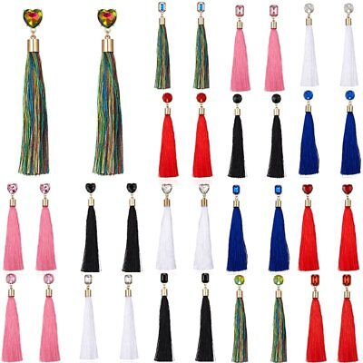 Women Boho Ethnic Long Tassel Earrings Drop Dangle Jewelry Costume Gift Party