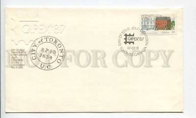 293330 CANADA 1987 year First Day COVER CAPEX philatelic exhibition