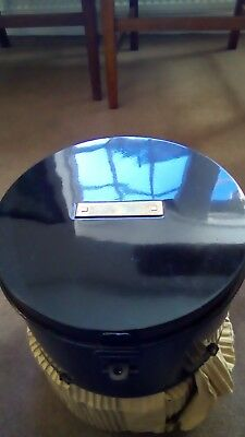 vintage NOS METAL HAT BOXES  MILLINERS  Museum collectable retro industrial
