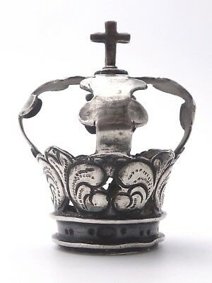 Antique Sterling Silver Holy Crown of Virgin Statue 18th Century