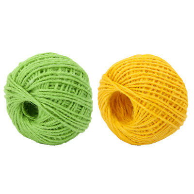 2Roll of 50m Jute Burlap Twine Sisal Rustic String Cord Vase Gift Chic Decor