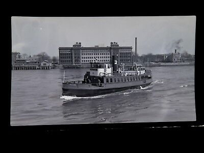 ORIG 1949 Ferry Welfare Roosevelt Island East River NYC 616 Photo Negative