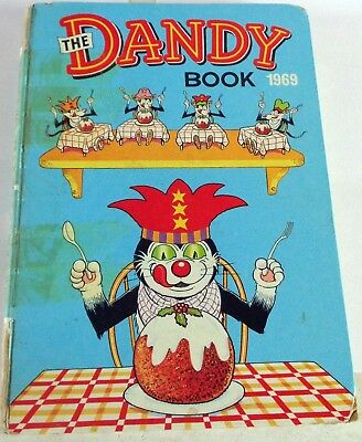 Vintage 1969 The Dandy Book Comic Annual: Unclipped: D C Thomson
