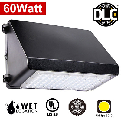 60W LED Wall Pack Security Light Fixture For Outdoor Warehouse Lamp Lighting