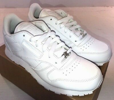 77c52a7ca REEBOK CLASSIC LEATHER Junior White/White - J90139 Youth Sizes NWD ...