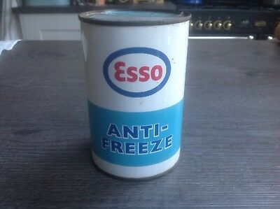 1970's Vintage Esso  Anti Freeze Can Tin  Full Sealed