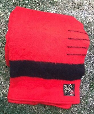 LARGE Vintage TRAPPER POINT 4 Point Blanket Made in ENGLAND 15 Feet x 6 Feet