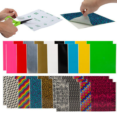 30ct Assorted Duct Tape Sheets By Duck Variety Pack Designs & Solids Bulk Colors