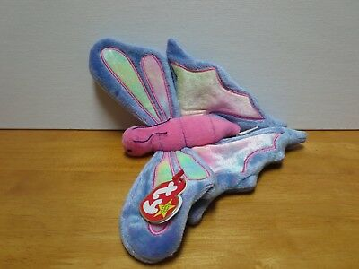 4fd9dd23dc6 TY BEANIE BABIES Flitter The Butterfly 1999 Mint With Tag -  2.49 ...