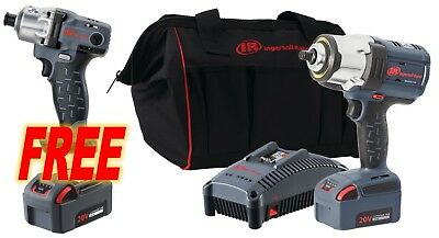 "Ingersoll Rand NEW W7152-K12 20V 1/2"" Cordless Impact Wr Kit replaces W7150-K12"