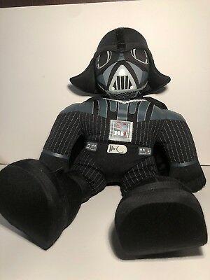 "2004 Talking Star Wars Darth Vader Hasbro 20"" Plush Stuffed Doll Dark Side WORKS"