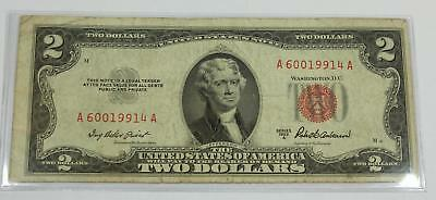 1953-A $2 United States Note LEGAL TENDER Priest Humphrey - 78718