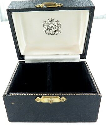 ".Superb ""Sidney Secker, Harringay, London"" His & Hers Serviette Ring Box."