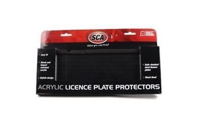Number Plate Protector Black &Clear Acrylic With Lines Fits Any S6 Figure