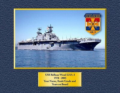 USS BELLEAU WOOD LHA 3 Custom Personalized Print of US Navy Ships Unique Gift