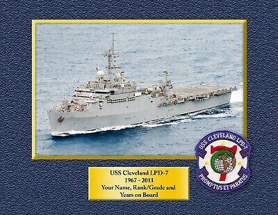 USS CLEVELAND LPD 7 Custom Personalized Print of US Navy Ships Unique Gift Idea