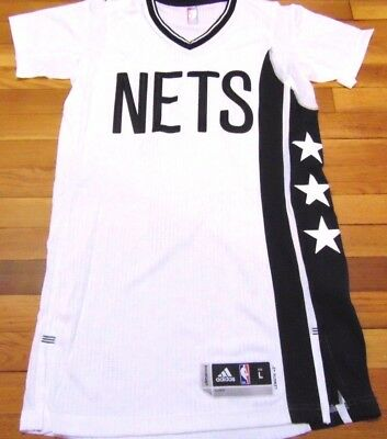 Adidas Nba Revolution 30 Brooklyn Nets Alternate Authentic Blank Jersey L+2