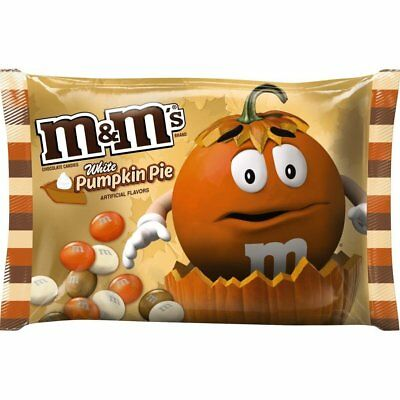 M&M's PUMPKIN PIE WHITE CHOCOLATE fall harvest M&Ms 8oz Limited Candy BB-6/2018