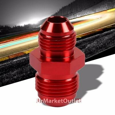 Red Aluminum Male//Male Flare Straight Coupler Oil//Fuel Hose 10AN Fitting Adapter