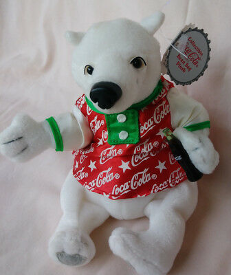 1999 Vintage Coca Cola Polar Bear Plush Bean Bag Collectors item Style # 0267