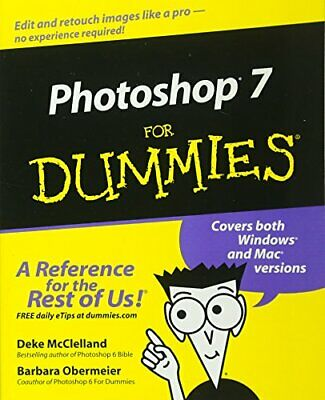 Photoshop 7 for Dummies by Obermeier, Barbara Paperback Book The Cheap Fast Free