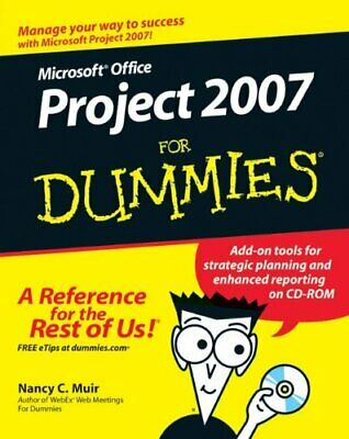 Microsoft Office Project 2007 For Dummies by Muir, Nancy C. Paperback Book The