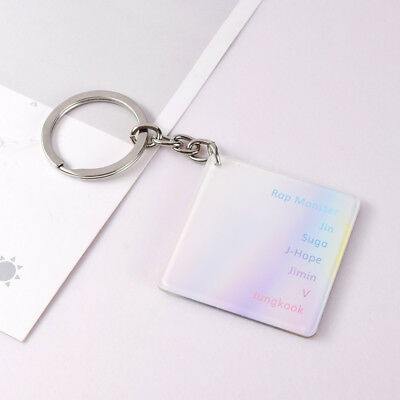 KPOP BTS Keyring Bangtan Boys Laser Key Chain Love Yourself 结 'Answer' SUGA V