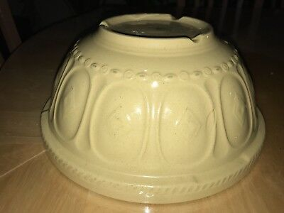 Vintage Gripstand T.G. Green Church Gresley England Yellow Mixing Bowl Nice Rare