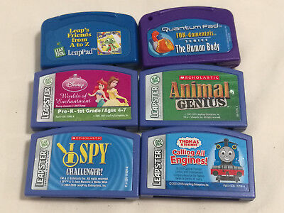 Leapfrog Leapster Quantum Pad leap pad lot of 6