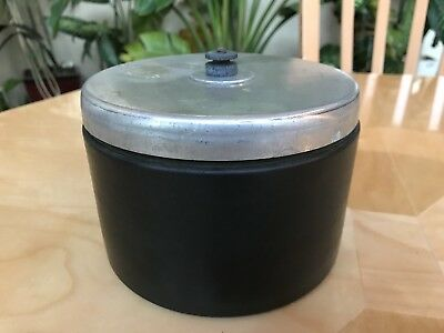 Vintage Chrome Pipe Cigar Humidor Tobacco Jar Smoking MOD.4NR Antique Rare