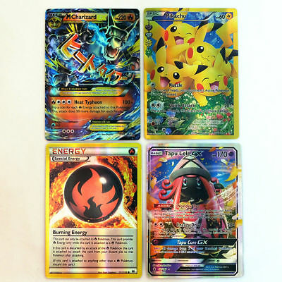 Pokemon 100 PCS Flash Lot Rare High Combat HP Energy EX+GX+Mega Cards US