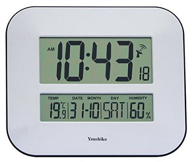 Jumbo Lcd Radio Controlled Wall Clock With Temperature And Humidity Display uk V