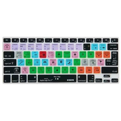 XSKN Logic Pro x 10 Silicone Keyboard Skin Cover for Macbook Air 13, 13 15...