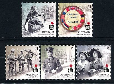 2018 Centenary of World War I - MUH Set of 5 Stamps