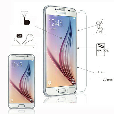 9H Anti-Fingerprint Tempered Glass Screen Protector Samsung Galaxy S7/S7Edge Lot