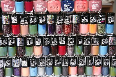 Maybelline Assorted Nail Polish | Inc Color Show, Superstay | Bulk buy 50 - 5000
