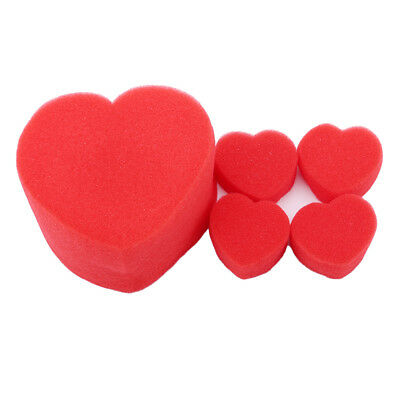 Magic Sponge Trick Heart Love Tool Ball Party Cute Close Up Red Street 5pcs Z
