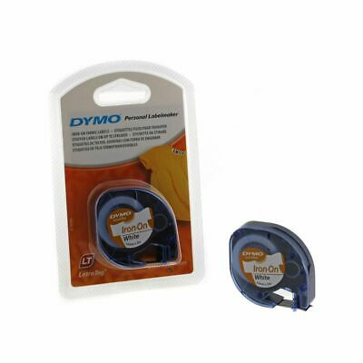Dymo Letratag Tape Iron On 12mm x 2m Fabric