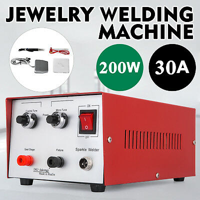 30A 200W Spot Welder Jewelry Welding Machine platinum cable gold sparkle 110V