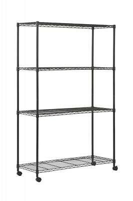 "Sandusky MWS481872 4-Tier Mobile Wire Shelving Unit with 2"" Nylon Casters, 4..."