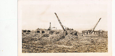 WWII 1940s Sugar Fields, Cranes loading suger cane Hawaii Photo #1