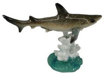 December Diamonds Shark with Coral Bobble Figurine Sea Life Decoration 4342014