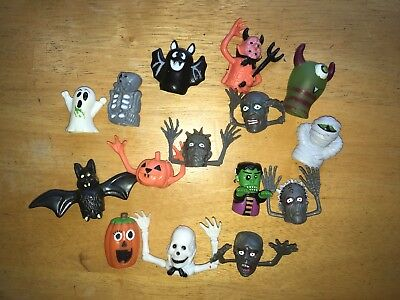 12pcs Fright Ghosts Head Plastic Finger Puppets Party Toys