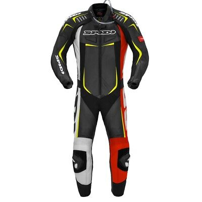 Spidi Track Wind Pro - Red Yellow Fluo - One Piece Racing Suit - Free P&P!